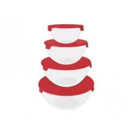 Set de Bowls CAROL x4 de Plástico Cristal