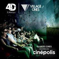 4D E-Motion - Village Cines: Entrada para todos los días