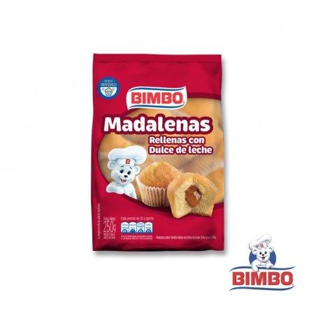 MADALENAS RELLENAS De Dulce de Leche 220GR Bimbo