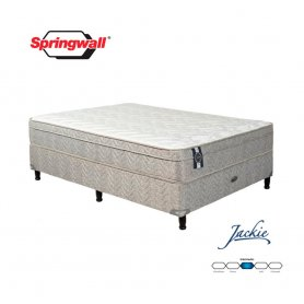 Sommier y Colchón Springwall 2 plazas Linea Advance Jackie