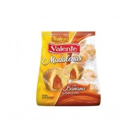 MADALENAS BANANA rellenas de Dulce De Leche 220G Valente
