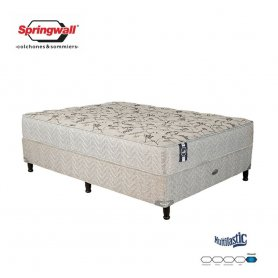 Sommier y Colchón Springwall Queen Linea Advance Multilastic