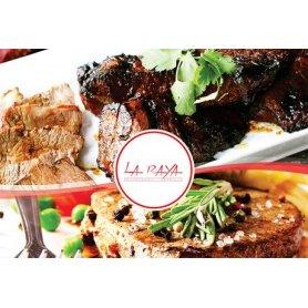 La RAYA : Almuerzo o cena para dos con Entrada + Plato Principal + Postre + Bebida