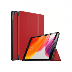 Funda Smart Cover P/ New iPad 7 Gen. 10.2 2019 A2197 A2198 Rojo