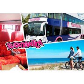 Pinamar o Villa Gesell: 1 pasaje de ida o vuelta en bus RUTATLANTICA