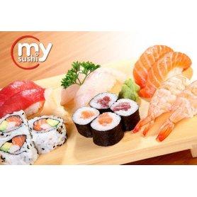 My Sushi: 30 piezas de salmón surtidas en Belgrano